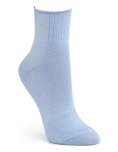 Calvin Klein Crystal Logo Soft Touch Socks-CHAMBRAY-One Size