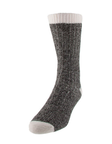 Mcgregor Wool-Blend Work Socks-BLACK-7-12