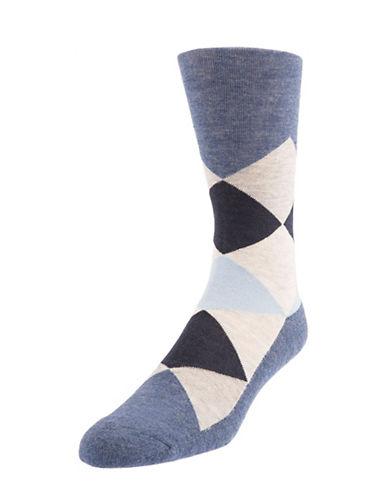 Mcgregor Mens Cushioned Sole Diamond Crew Socks-DENIM-7-12