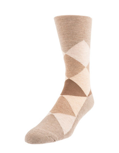 Mcgregor Mens Cushioned Sole Diamond Crew Socks-SAND-7-12