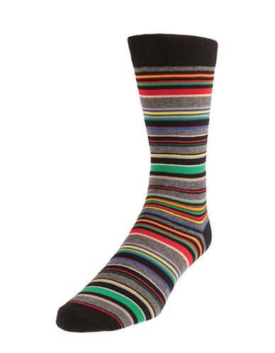 Mcgregor Multicolour Striped Socks-BLACK-7-12