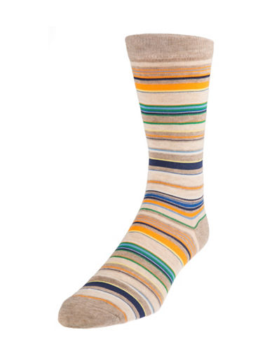 Mcgregor Multicolour Striped Socks-BROWN-7-12