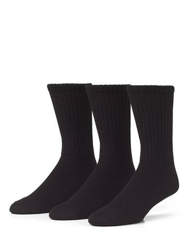 Mcgregor 3 Pack Athletic Crew Socks-BLACK-7-12