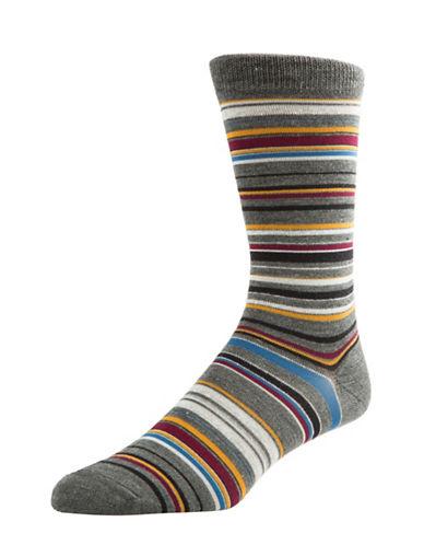 Mcgregor Wool Stripe Crew Socks-CHARCOAL-7-12