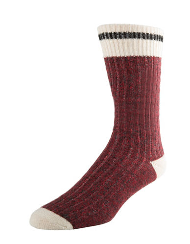 Mcgregor Weekender Wool Work Crew Socks-RED-7-12