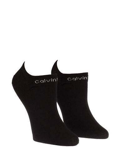 Calvin Klein Two-Pack Coolmax Performance Socks-BLACK-One Size
