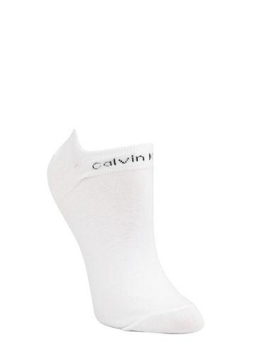 Calvin Klein Two-Pack Coolmax Performance Socks-WHITE-One Size