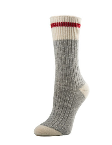 Mcgregor Merino Wool Work Crew Socks-GREY-One Size
