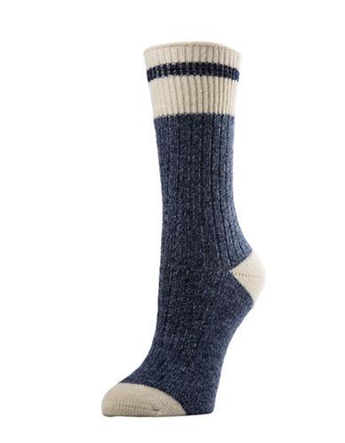 Mcgregor Merino Wool Work Crew Socks-BLUE-One Size