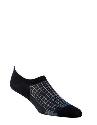 Calvin Klein Tech Cool Grid No-Show Socks-BLACK-7-12