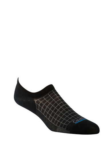Calvin Klein Tech Cool Grid No-Show Socks-NAVY-7-12