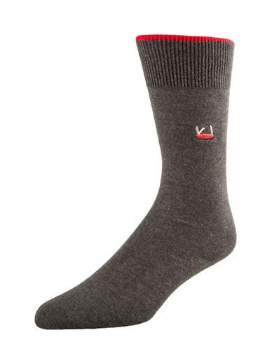 Mcgregor Mens Logo Crew Socks-GREY-7-12