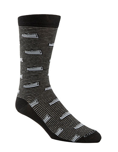 Cole Haan Pinch Loafer Crew Socks-BLACK-7-12
