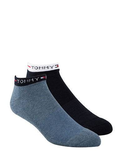 Tommy Hilfiger Two Pack Liner Socks-DENIM-7-12