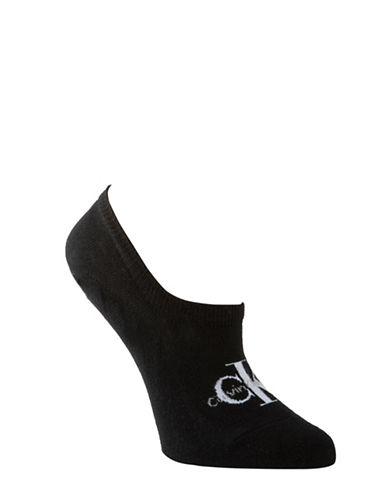 Calvin Klein Jeans Logo Liner Socks-BLACK-One Size