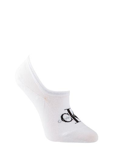 Calvin Klein Jeans Logo Liner Socks-WHITE-One Size