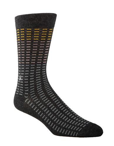 Calvin Klein Mens All Over Tiles Socks-GREY-7-12