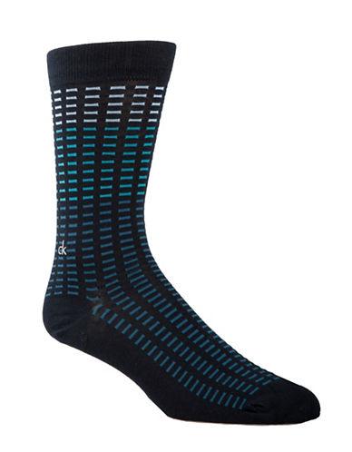 Calvin Klein Mens All Over Tiles Socks-BLUE-7-12