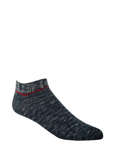 Calvin Klein Logo Liner Socks-BLUE-7-12