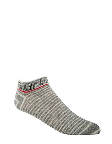 Calvin Klein Logo Liner Socks-GREY-7-12