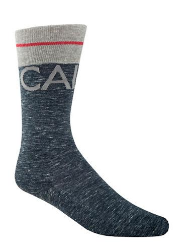 Calvin Klein Big Logo Crew Socks-BLUE-7-12
