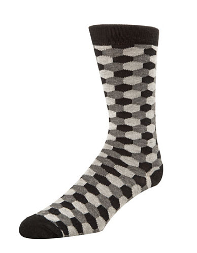 Mcgregor Mens Hexagon Socks-BLACK-7-12