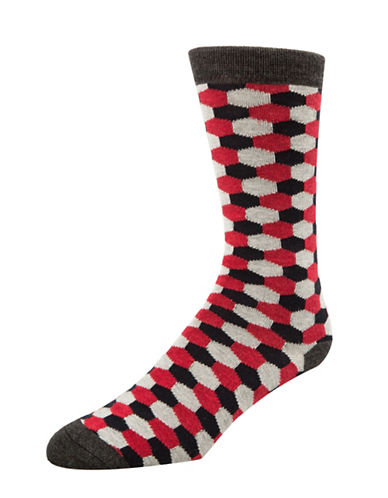 Mcgregor Mens Hexagon Socks-GREY-7-12