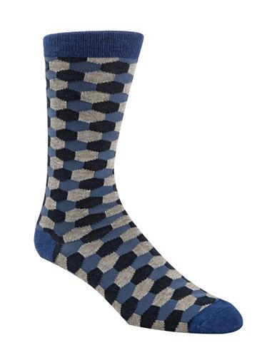 Mcgregor Mens Hexagon Socks-BLUE-7-12