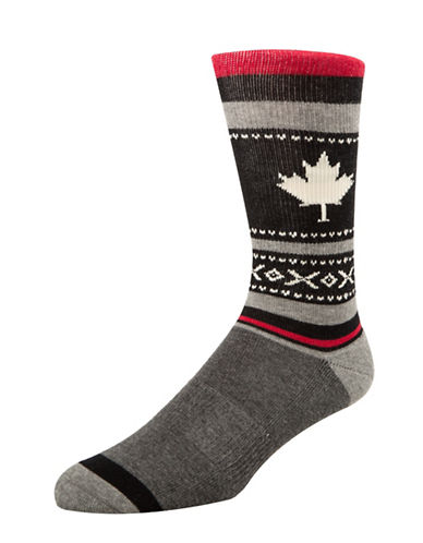 Mcgregor Mens Maple Leaf Hockey Socks-BLACK-7-12