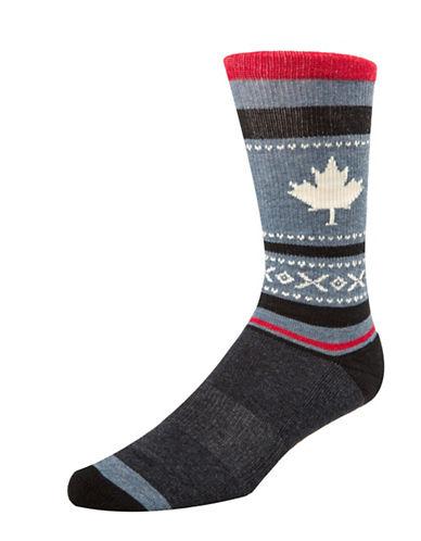 Mcgregor Mens Maple Leaf Hockey Socks-BLUE-7-12