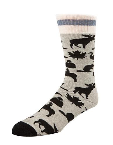 Mcgregor Mens Iconic Canadiana Socks-GREY-7-12