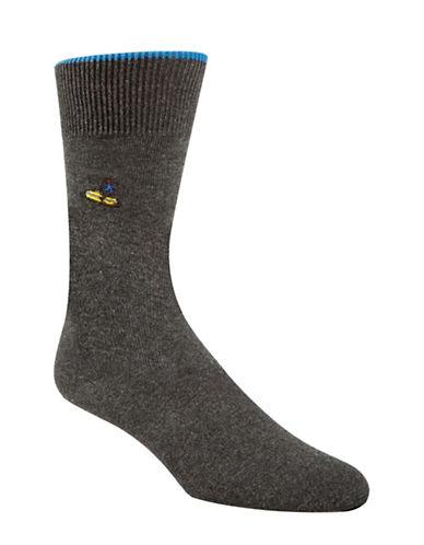 Mcgregor Mens Logo Crew Socks-TEAL-7-12