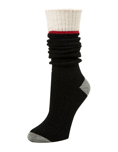 Mcgregor Sweater Crew Socks-BLACK-One Size