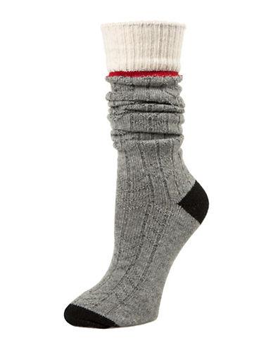 Mcgregor Sweater Crew Socks-GREY-One Size