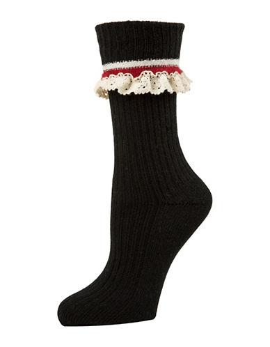 Mcgregor Lace Crew Socks-BLACK-One Size