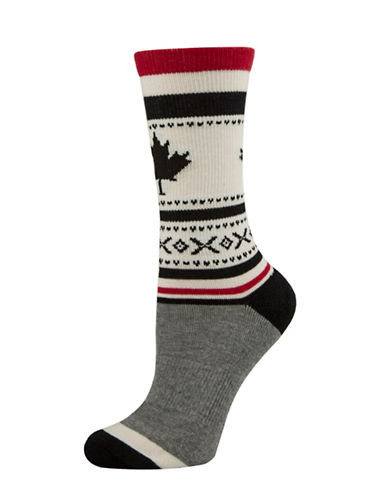 Mcgregor Maple Leaf Tube Socks-BLACK-One Size