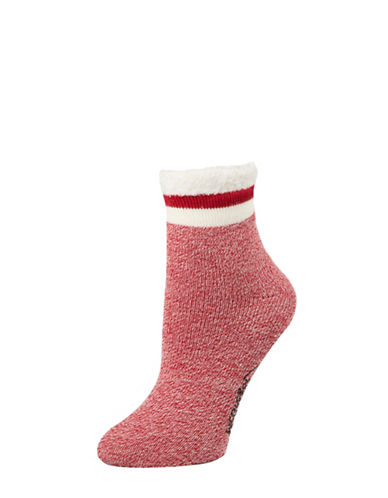 Mcgregor Thermal Anklet Socks-RED-One Size