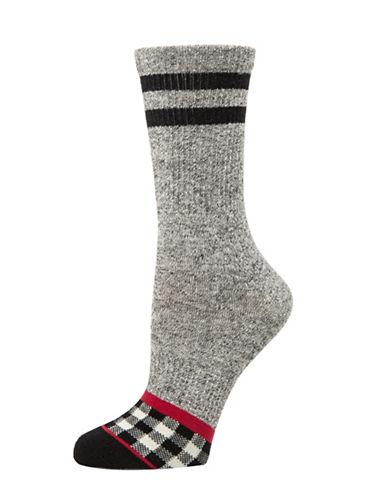 Mcgregor Plaid Tube Socks-GREY-One Size