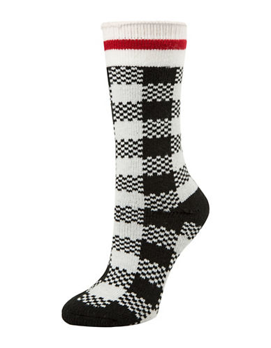 Mcgregor Thermal Buffalo Check Crew Socks-BEIGE-One Size