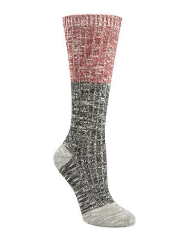 Mcgregor Weekender Colourblock Twist Crew Socks-GRAPHITE-One Size