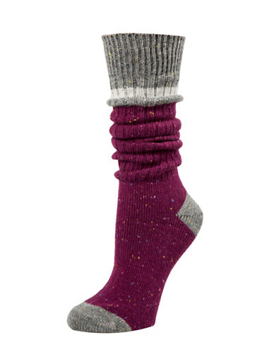 Tommy Hilfiger Work Slouch Socks-PURPLE-One Size