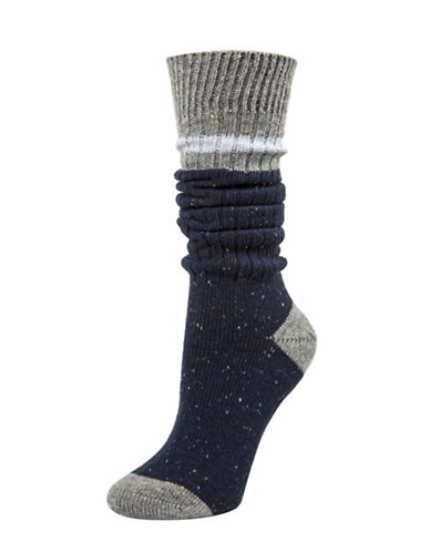 Tommy Hilfiger Work Slouch Socks-BLUE-One Size