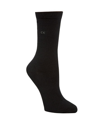 Calvin Klein Four-Pack Holiday Crew Socks-BLACK-One Size