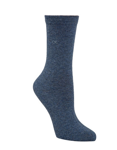 Calvin Klein Four-Pack Holiday Crew Socks-DENIM-One Size