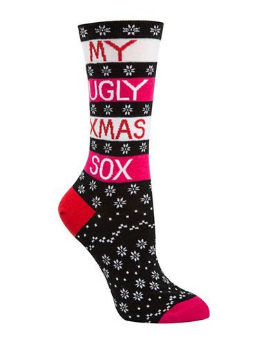 Mcgregor Ugly Sox Crew Socks-BLACK-One Size