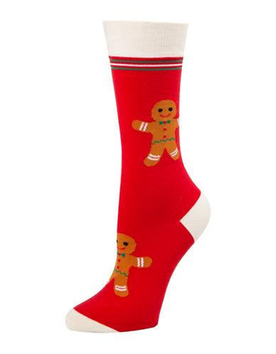 Mcgregor Lets Get Baked Crew Socks-RED-One Size
