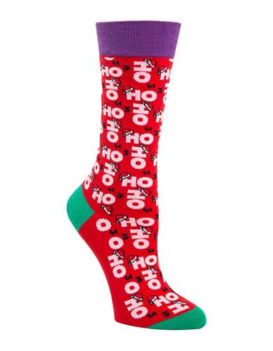 Mcgregor Ho Ho Ho Crew Socks-RED-One Size