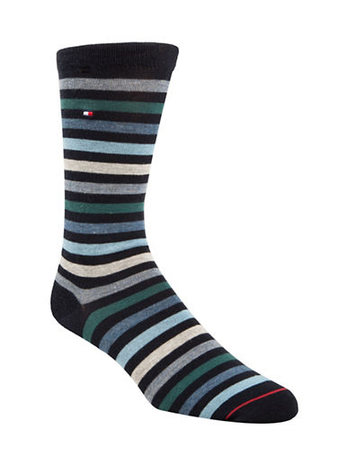 Tommy Hilfiger Two-Pack Primary Stripe Crew Socks-RED-7-12