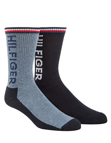 Tommy Hilfiger Two-Pack Sport Crew Socks-BLUE-7-12