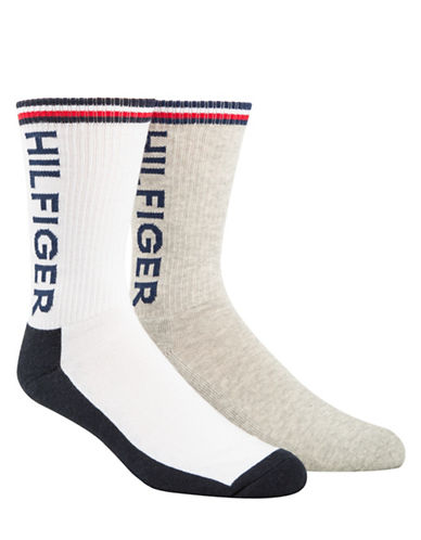 Tommy Hilfiger Two-Pack Sport Crew Socks-WHITE-7-12